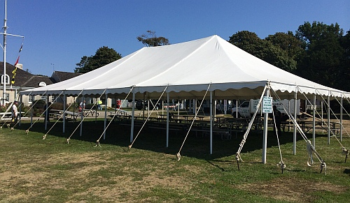 40 x 60 Pole tent (Anchor) 3 piece sectional & Academy Tent Rentals - Tents For Sale