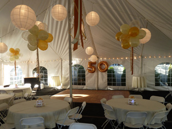 Academy Tent Rentals has your wedding tent and party tent needs Long