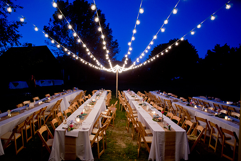 Bistro Lights Connecting Tents Country Wedding ... & Recent Events - Tent Pictures LI Pole Tents Frame Tents Tent ...