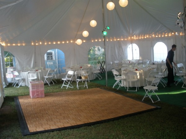 40 X 60 Pole Tent Wedding Dance Floor